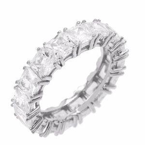 Princess cut diamond eternity band size 6